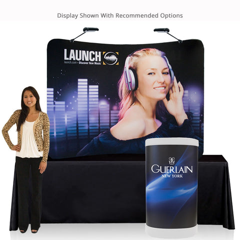 8 Ft. EZ Tube Display - Tabletop Curve Single-Sided Graphic Package