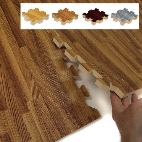 Faux Wood Interlocking Trade Show Flooring