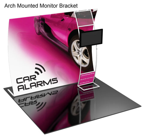 Formulate Display with Arched Monitor Mount