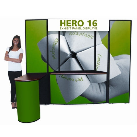 Hero 16 Trade Show Panel Display with Counter