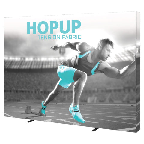 HopUp 10ft Tension Fabric Display - Straight with Endcaps