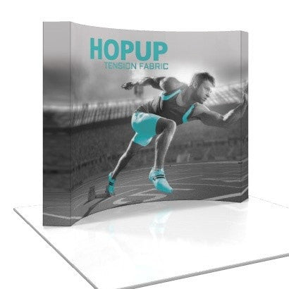 HopUp 8ft Curved Trade Show Display