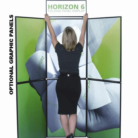 Horizon 6 Fabric Panel Folding Trade Show Display