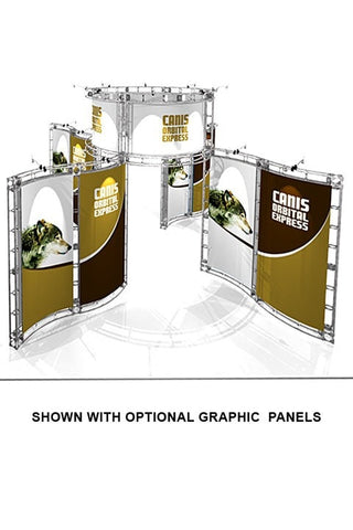 Trade Show Orbital Express Truss System Canis Graphic Panels 20'