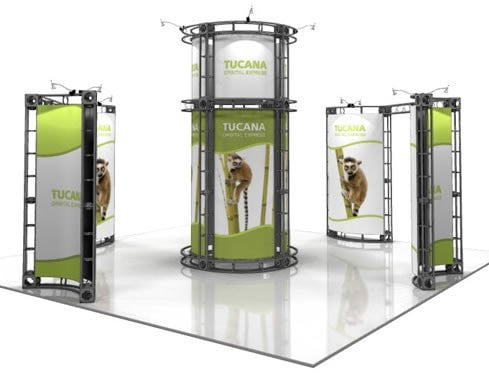 Trade Show Orbital Express Truss System Tucana Front Far 20'