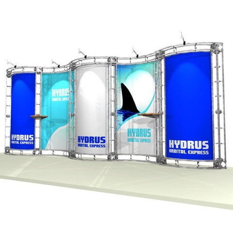 Trade Show Orbital Express Truss System Hydus Front Left 20'
