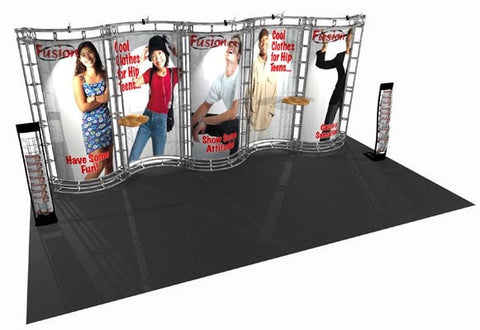 Trade Show Orbital Express Truss System Hydus Front Right 20'