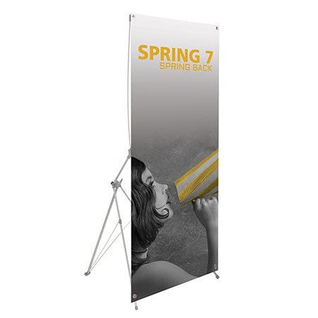 Trade Show Spring 7 Banner Stand Front