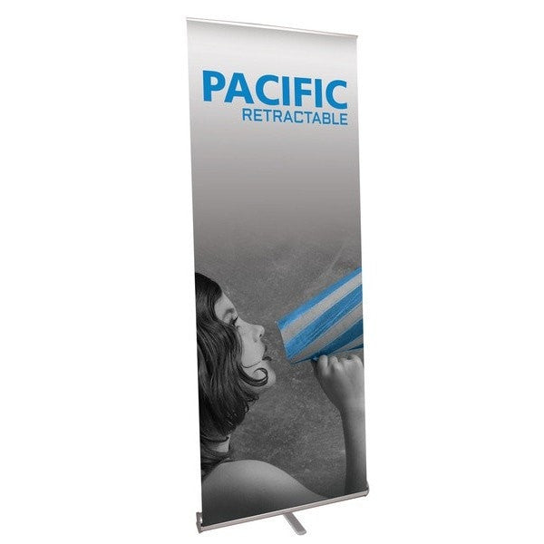 Pacific Retractable Trade Show Banner Stand Front