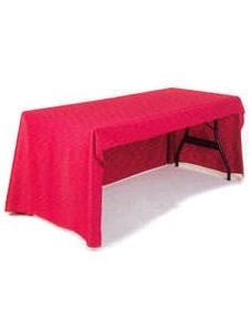 Trade Show Unprinted Table Throw Red Economy Back