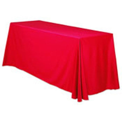 Trade Show Unprinted Table Throw Red