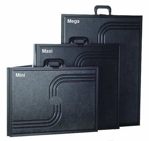 Small Voyager Briefcase Displays Folded