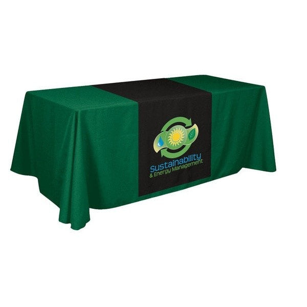 Trade Show XpressScan Table Runner Green Black