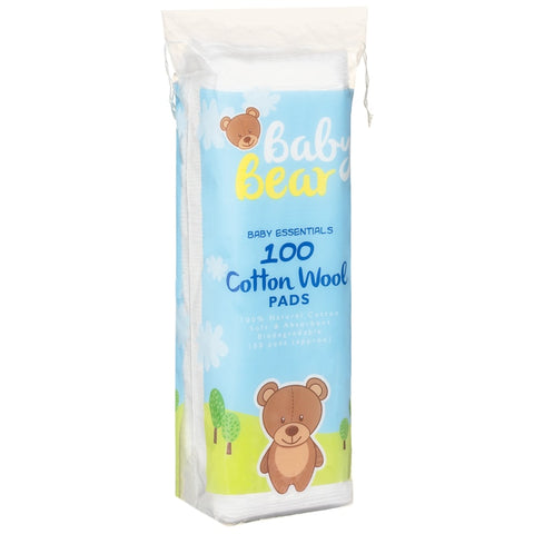 Baby Bear Cotton Wool Pads - 100