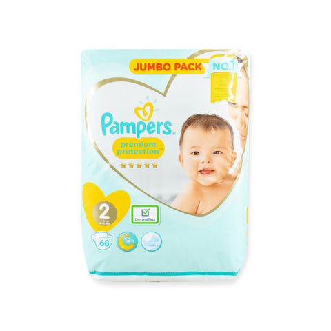 Pampers NB size 2 Nappies Qty 68