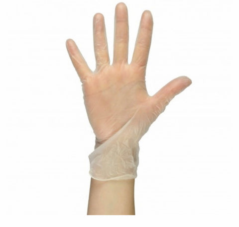 Powder free vinyl gloves 100
