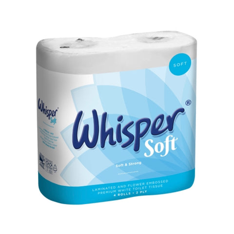 Whisper soft toilet roll