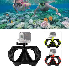 Load image into Gallery viewer, Scuba Diving-Snorkeling Mask with camera attachment (camera not included) - WriteOnMan
