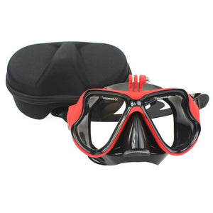 Scuba Diving-Snorkeling Mask with camera attachment (camera not included) - WriteOnMan