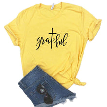 Load image into Gallery viewer, Grateful-T-Shirt - WriteOnMan