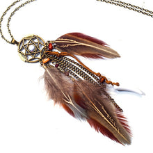 Load image into Gallery viewer, Bohemian Feather Necklace - WriteOnMan