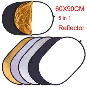 Photography Reflectors-5 IN 1-dimensions 60 X 90 CM - WriteOnMan