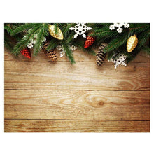 Load image into Gallery viewer, Photography Backdrops and Scenes-Christmas and Holiday Evergreen Theme and other Floral Decor - WriteOnMan