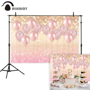 Photography Backdrops and Scenes- Pink Balloons and Glitter! - WriteOnMan