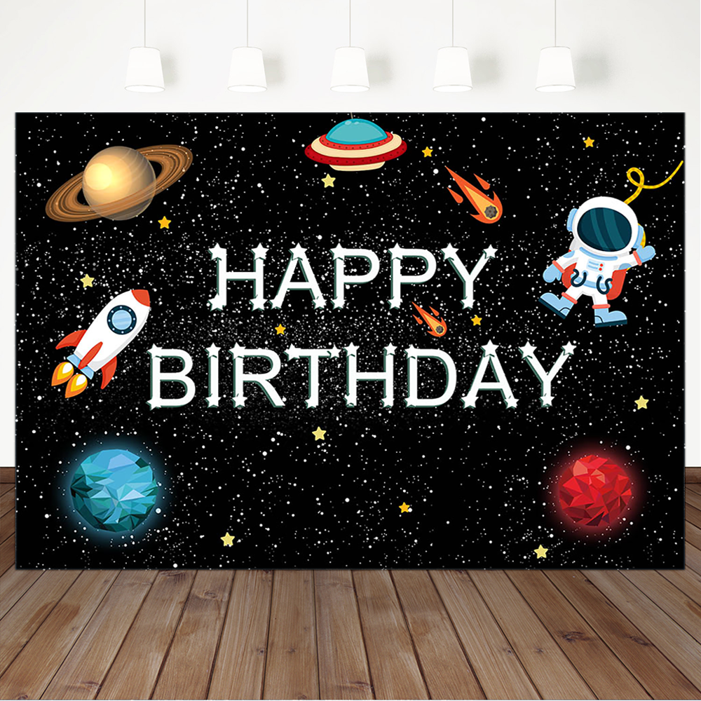 Photography Backdrops and Scenes-Space Themed Birthday - WriteOnMan
