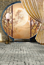 Load image into Gallery viewer, Photography Backdrop and Scenes-Round Door, Moon, Brick Floor, Romantic Theme - WriteOnMan