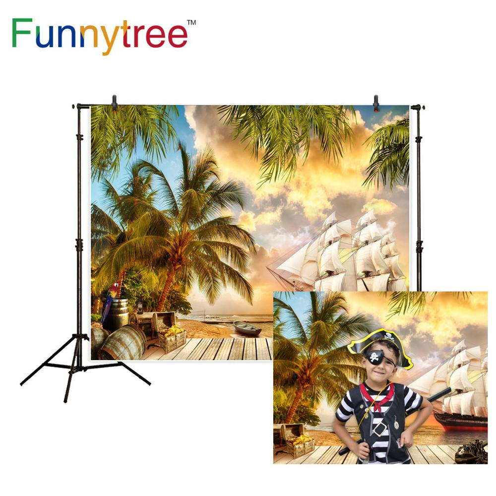 Photography Backdrops and Scenes- The Pirate and Coconut Trees - WriteOnMan