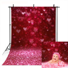 Load image into Gallery viewer, Photography Backdrops and Scenes- Valentines Theme, Hearts and Glitter - WriteOnMan