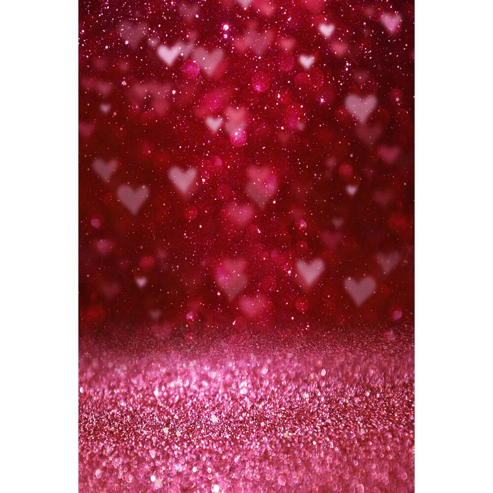 Photography Backdrops and Scenes- Valentines Theme, Hearts and Glitter - WriteOnMan