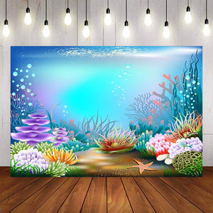 Photography Backdrops and Scenes- Underwater Mermaid Theme - WriteOnMan