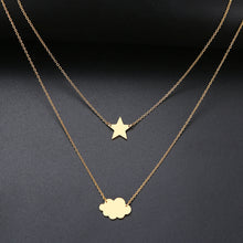 Load image into Gallery viewer, Cloud, Aircraft, Stars, Heart- Pendant Necklace - WriteOnMan