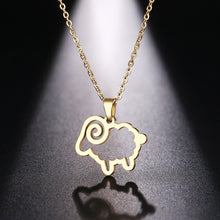 Load image into Gallery viewer, Sheep Pendant Necklace-Stainless Steel - WriteOnMan