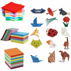 Rainbow Colored Origami Paper-200/520 Sheets 10 Colors - WriteOnMan