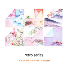 Load image into Gallery viewer, Fancy Floral Origami Paper-72pcs - WriteOnMan