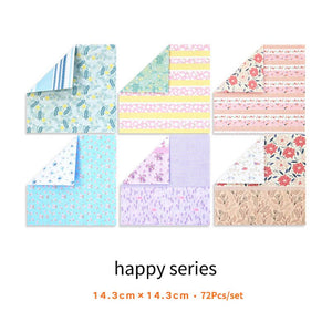 Fancy Floral Origami Paper-72pcs - WriteOnMan