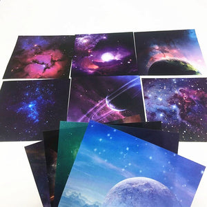 70 sheets/pack Outer Space pattern origami paper - WriteOnMan
