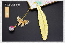 Load image into Gallery viewer, Retro Vintage Metal Bookmark-Feather/Butterfly - WriteOnMan