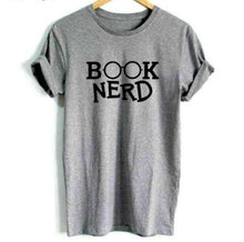 Load image into Gallery viewer, Book Nerd-T-Shirt - WriteOnMan