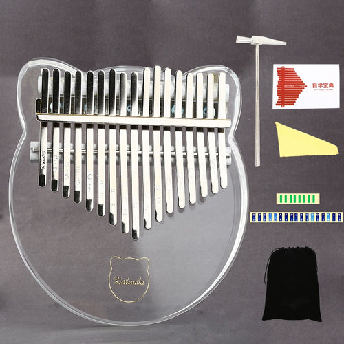 17 Key Kalimba Acrylic Thumb Piano 17 Keys - WriteOnMan