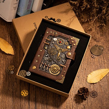 Load image into Gallery viewer, Steampunk Themed Retro Notebooka - WriteOnMan