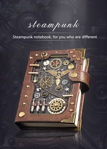 Steampunk Themed Retro Notebooka - WriteOnMan