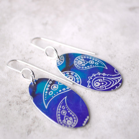 Colourful Drop Earrings - Paisley Pins