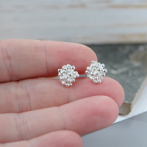 Silver Bubble Studs - Paisley Pins