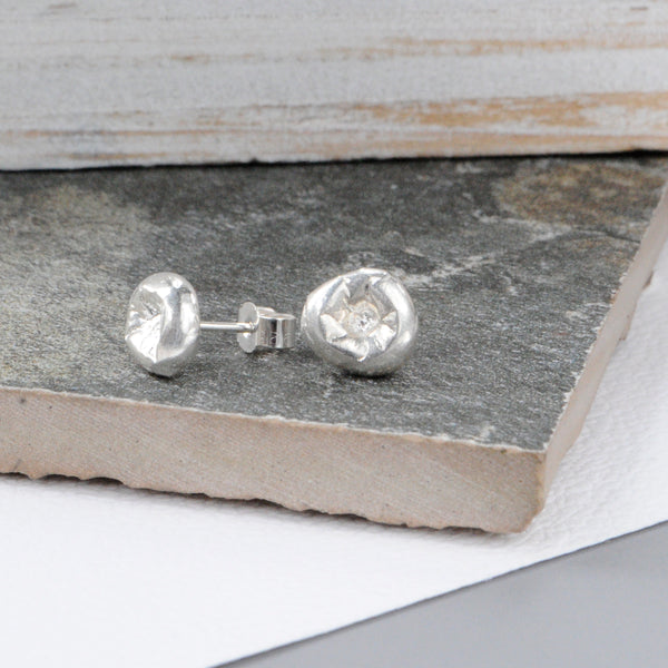 Recycled Silver Studs - Paisley Pins