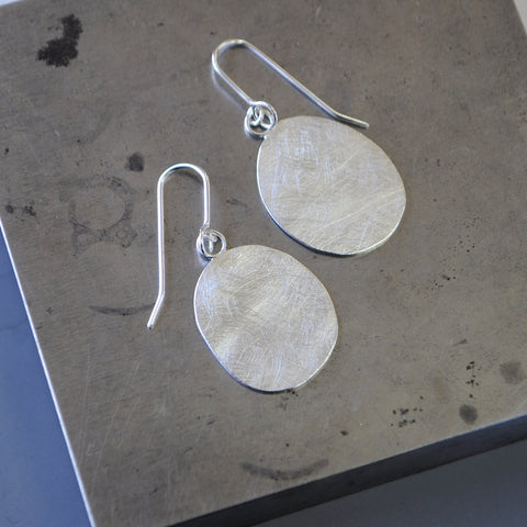 Recycled Silver Drop Earrings - Paisley Pins