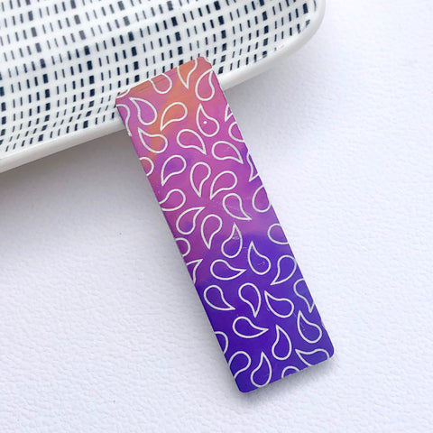Colourful Aluminium Pin - Paisley Pins